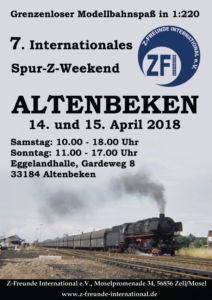 Plakat Spur-Z-Weekend Altenbeken 2018